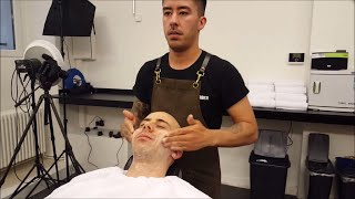 Nomad Barber - Face shave with Massage - ASMR no talking