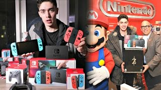 Unboxing the FIRST EVER Sold Nintendo Switch After Staying Awake for 48 HOURS
