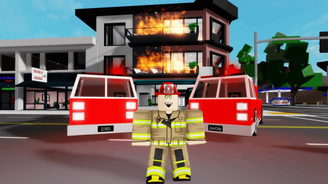 HUGE APARTMENT FIRE IN BROOKHAVEN! (Roblox)