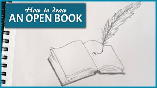 Download How To Draw An Open Book Easy Step By Step Drawing