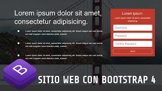 Bootstrap 4 ! Sitio Web Simple con Bootstrap 4 y Font Awesome 5 Desde Cero. Landing Page