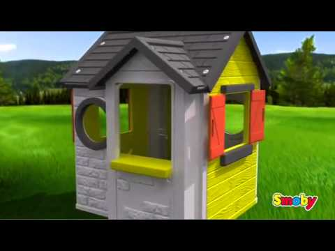 Smoby My House Childrens Garden Playhouse Kids Play Home
