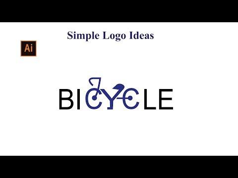 Simple logo ideas | Bicycle | Adobe illustrator cc tutorials thumbnail