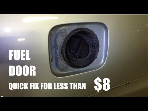 How To Fix Your Fuel Door For Under 8 And In 30min Youtube