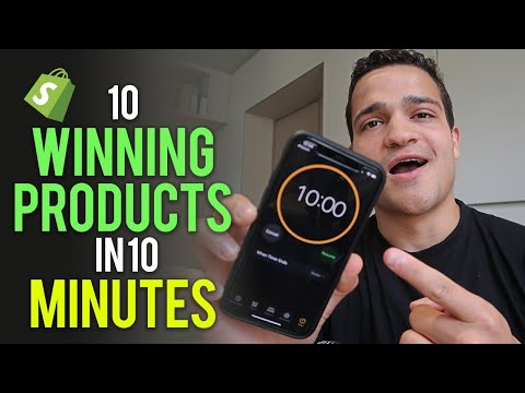 Finding 10 Winning Products In 10 Minutes (Shopify Challenge) thumbnail