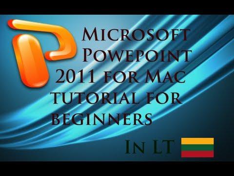 """MS PowerPoint 2011 - Pamoka """"Kaip dirbti?"""" #1"""