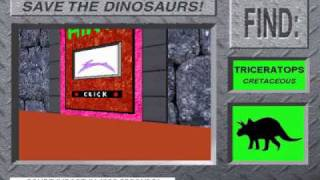 Save The Dinosaurs! From 3-D Dinosaur Adventure MS-DOS/Packard Bell Version Part 1