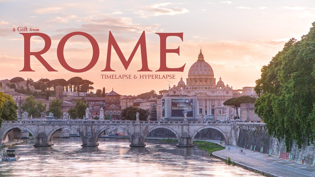 A Gift from Rome. Timelapse & Hyperlapse. Italy. Vatican