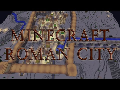 Minecraft Timelapse | Ancient Roman City | Walls & Aqueduct