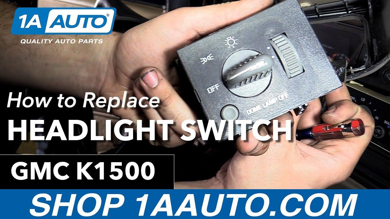 how to replace headlight switch 95 99 gmc k1500 [ 1280 x 720 Pixel ]