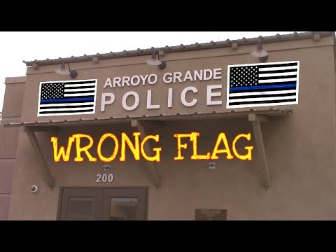 *OFFICER CAN'T EXPLAIN WHAT IT MEANS* INSIDE POLICE DEPT LOBBY (Arroyo Grande, Ca)