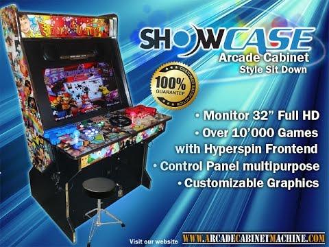 Arcade Cabinet Machine - Showcase Hyperspin Style Sit Down 2017 ...