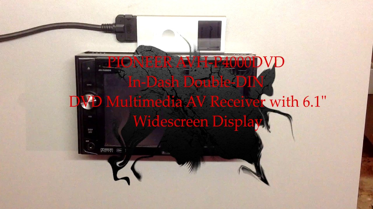Pioneer Avh P4000dvd In Dash Double Din Dvd Multimedia Av Receiver Bypass With 61 Widescreen Display
