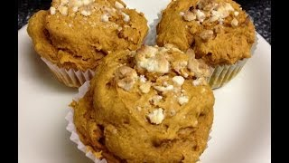 Easy Recipe! White Chocolate Topped Pumpkin Cupcakes! Moist & Fluffy!