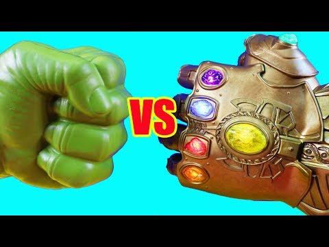Hulk Family Vs. Thanos Family ! Mega Battle ! Superhero Toys