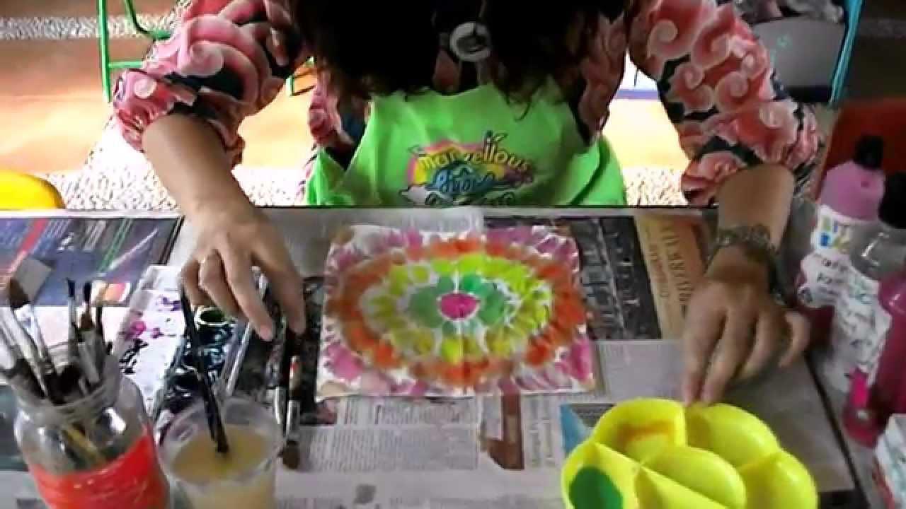3821ba981647e9 Arts   Crafts for Children  1 Tie-Dye Tissue Paper - YouTube