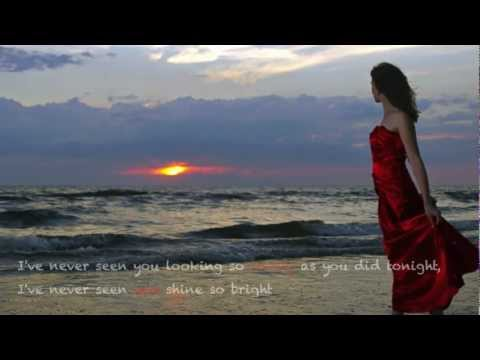 Chris De Burgh  Lady in Red Lyrics on screen