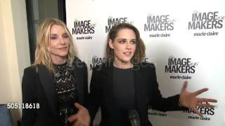Kristen Stewart with Jillian Dempsey on interview at #MCImageMakers