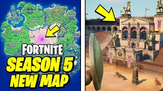 Fortnite Season 5 NEW MAP GAMEPLAY & NEW POIs (SALTY TOWERS)