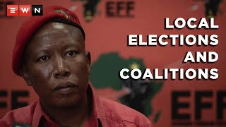 EFF leader Julius Malema held a briefing to address the party's plans for the local elections and whether they are open to coalitions.  #Malema #EFF