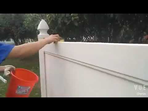 how to clean pvc fence