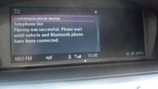 BMW e60 telephone pairing