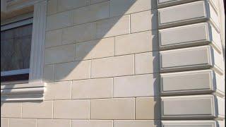 видео Отделка фасада. Штукатурка или легкий камень?