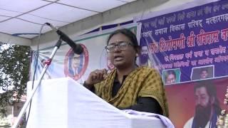 sant siromani ravidas janmotsav,member of parliament meenakshi natrajan meeting at malhargarh