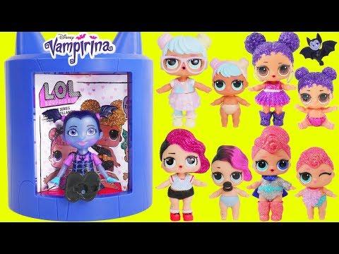 Don't Wake Vampirina Big Transformer LOL Surprise Dolls Routine Sister Barbie Pool Slumber Party!