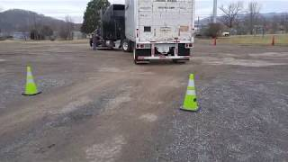 ALLEY DOCK BACKING AT TRUCK DRIVING SCHOOL