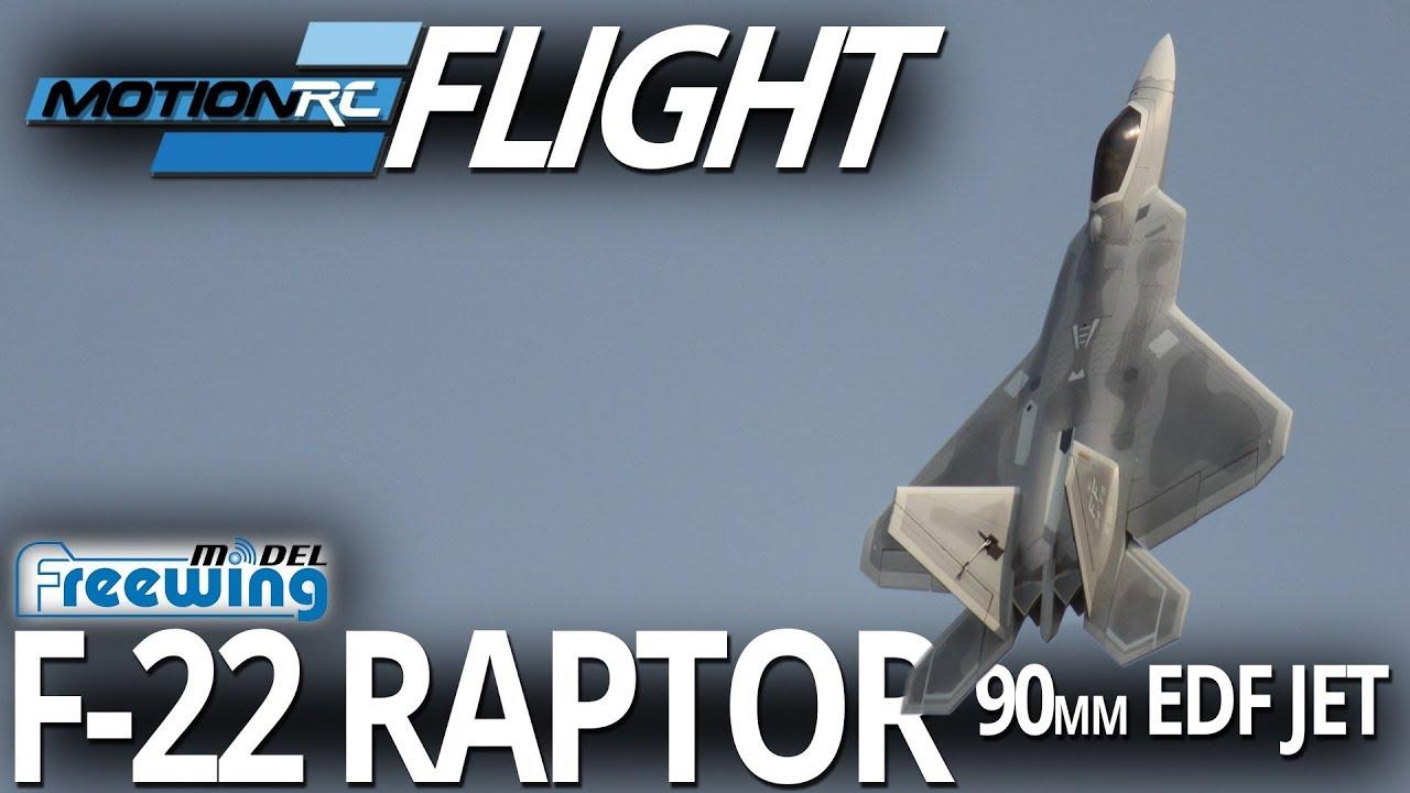 Freewing F-22 Raptor 90mm EDF Jet - Flight Review - Motion RC