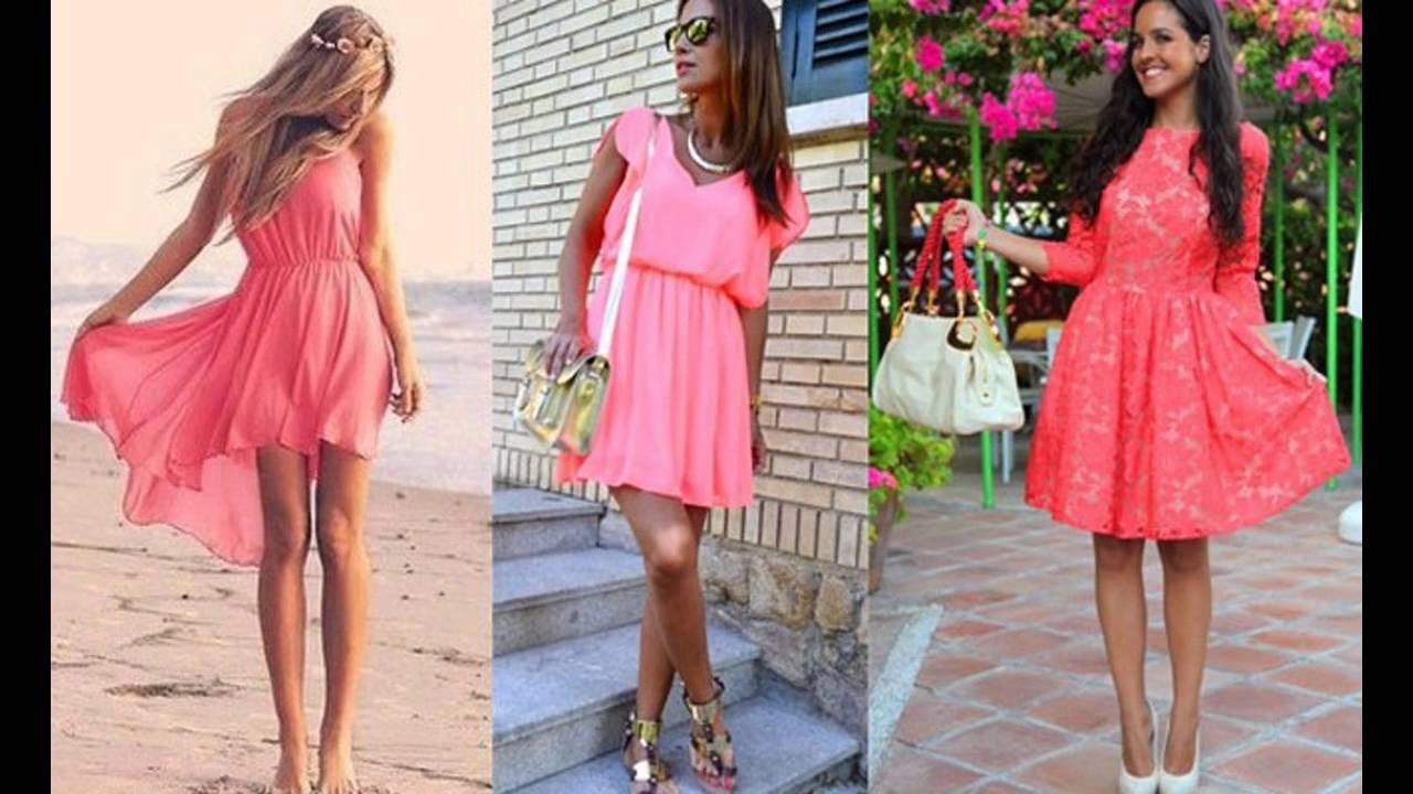 Tendencias de Moda Como combinar el color coral en ropa - YouTube