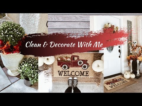 CLEAN & DECORATE WITH ME | FALL PORCH DECORATING 2019 | BUDGET FRIENDLY FALL DECOR IDEAS