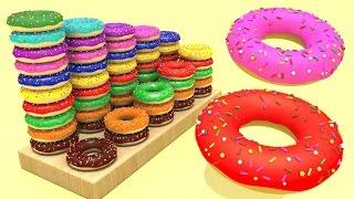 Учим Цифры до 10  Считаем Пончики  Развивающий мультфильм для детей  Волшебство ТВ