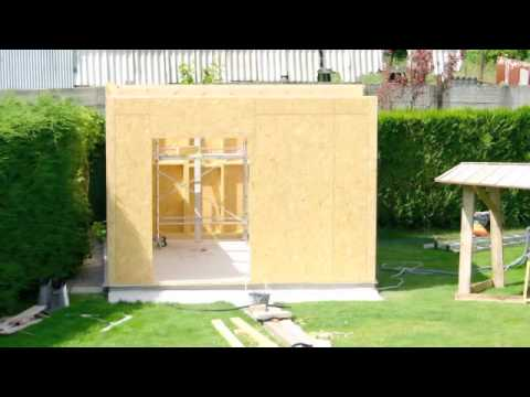 Montage annexe pavillonnaire ossature bois youtube - Annexe maison ossature bois ...