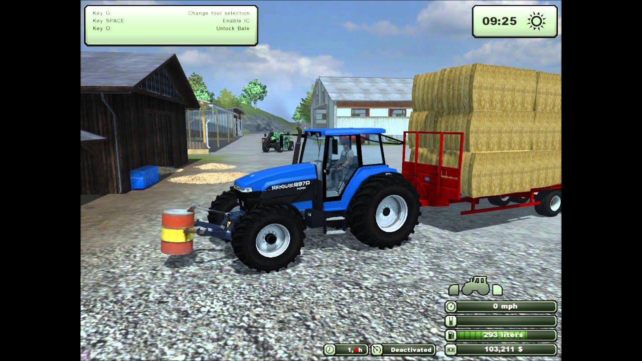 Farming simulator 2013 episode 4 stacking bales extreme baling pack youtube