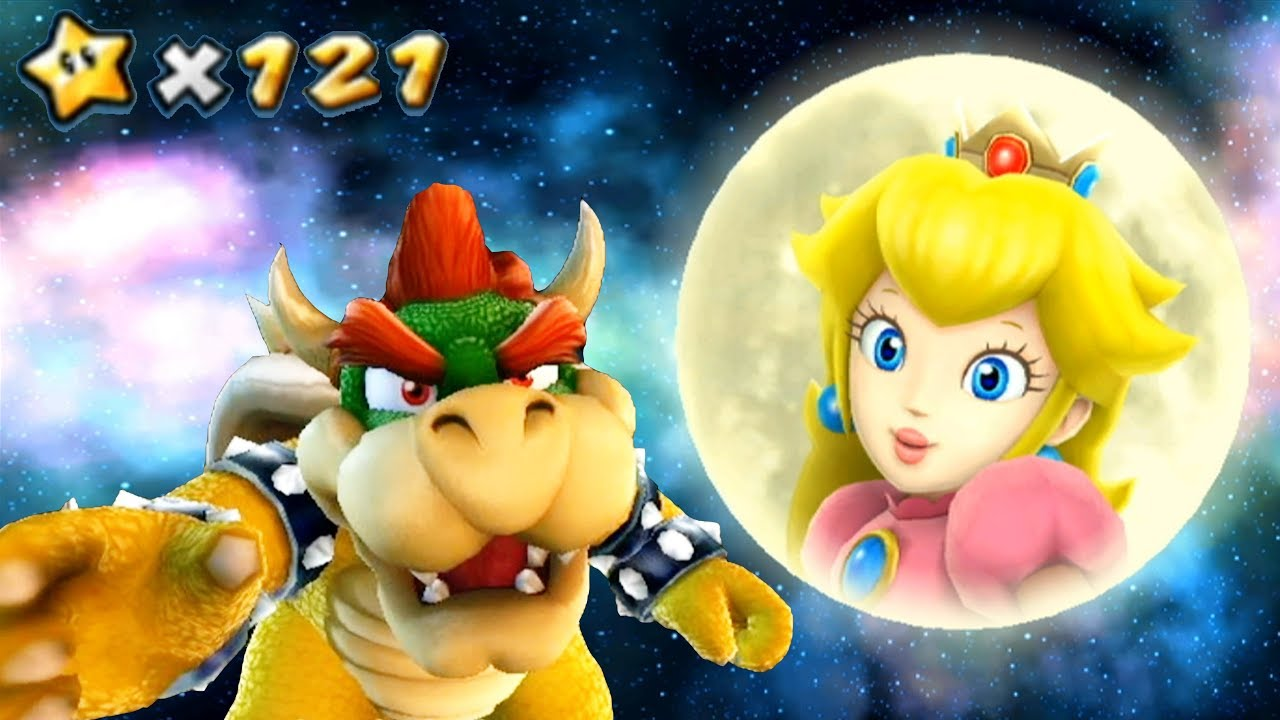 Super Mario Galaxy #1 Bowser Removes Peach's Castle into Outer Space - All  121 Stars 4k Walkthrough