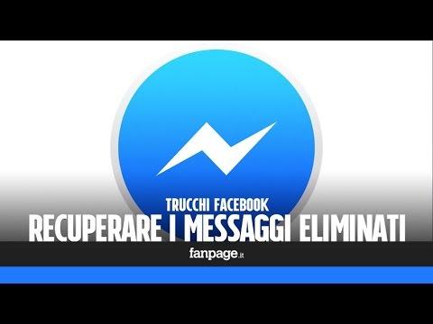 Come recuperare i messaggi cancellati da Facebook