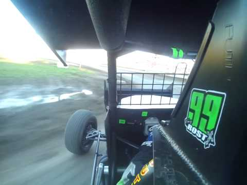 Eagle Raceway IMCA 305 RaceSaver Sprint Car Tony Rost Heat Race Win 628/14