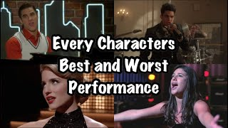 Glee- Best and Worst Song for Every Character