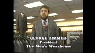 """1984 - Men's Wearhouse """"I Guarantee It"""" George Zimmer Commercial"""