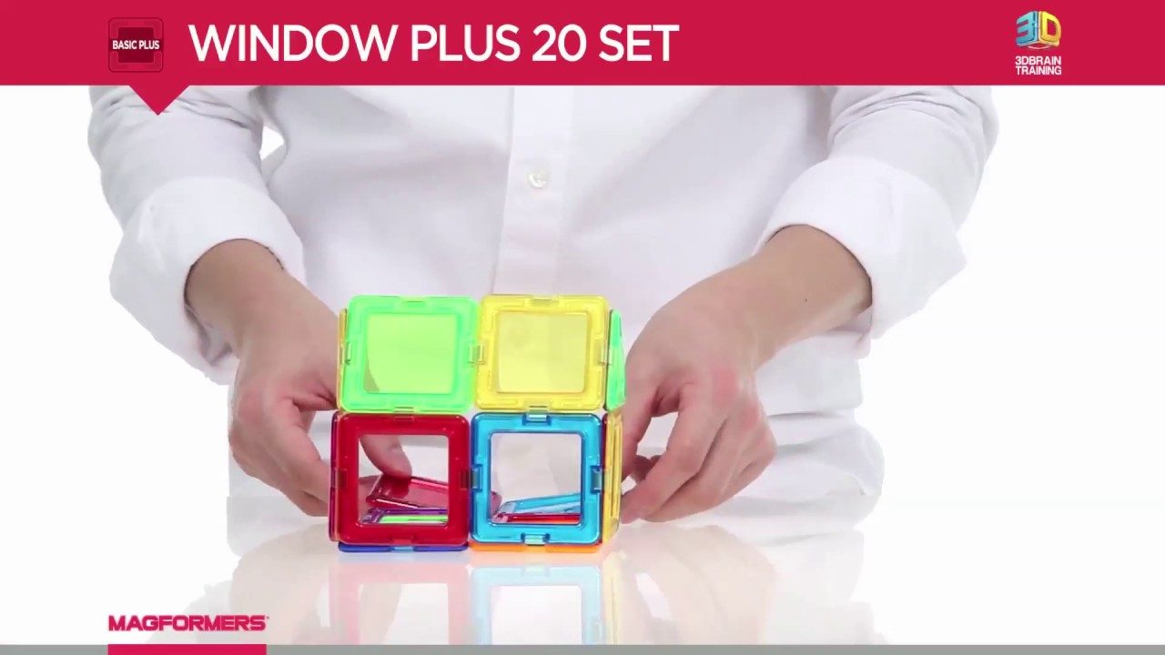 Видеообзор набора Magformers WINDOW PLUS 20 SET