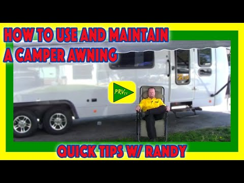 how to use and maintain a camper awning pete s rv service tips