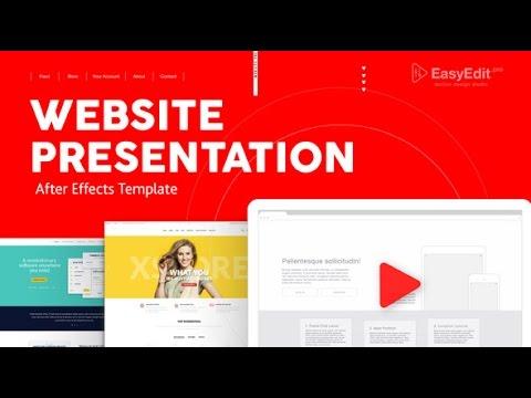 Website Presentation - After Effects Template