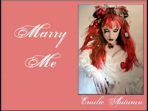 emilie autumn marry me lyric video