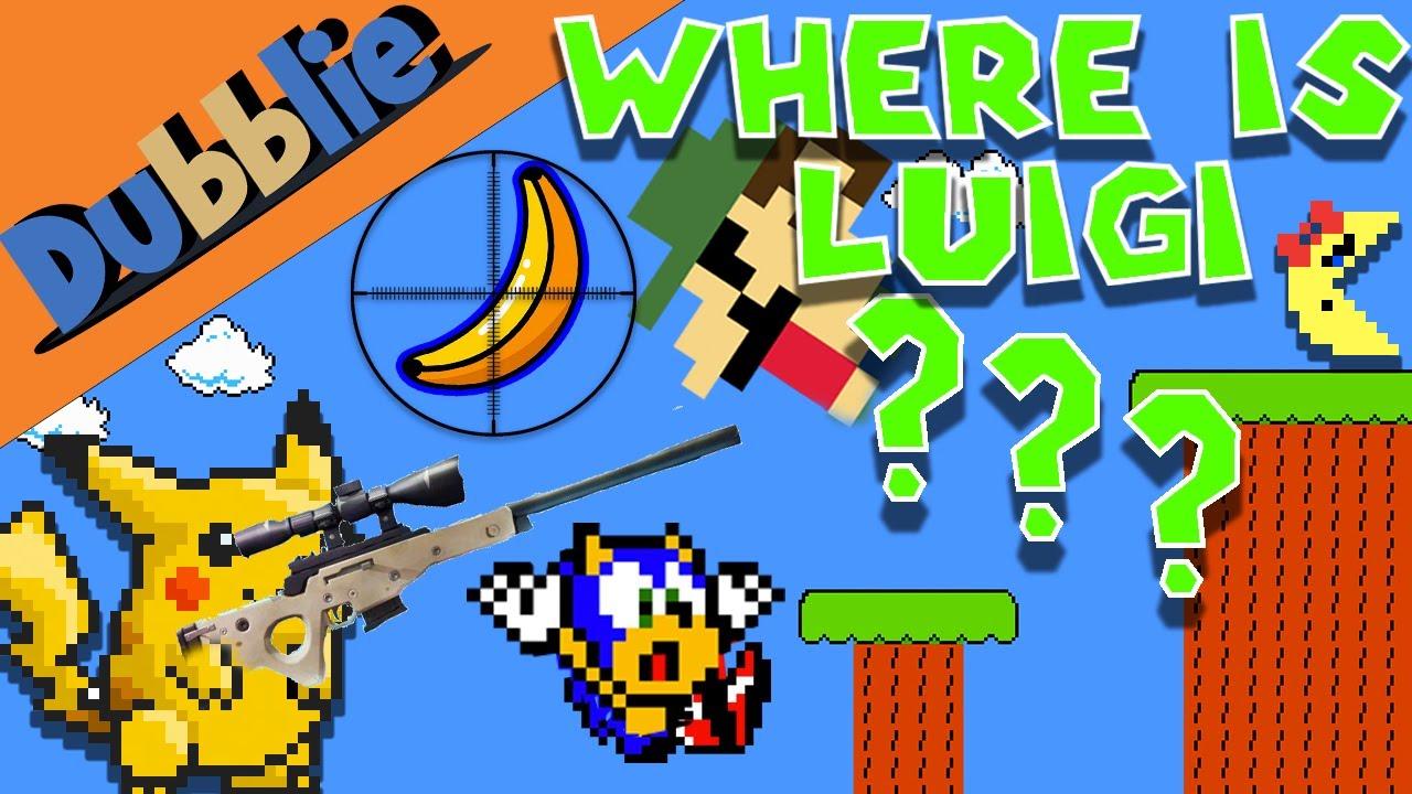 Pikachu vs Sonic vs Luigi vs Ms.Pacman (Banana Battle) - Interactive Animation