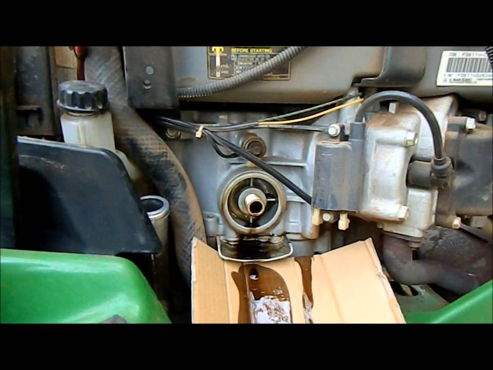 How ToGarden Tractor Oil Change John Deere 345  YouTube