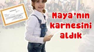 Maya got her school report! Yay! | Our Family
