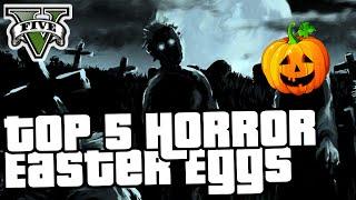 GTA 5 Online - TOP 5 HORROR EASTER EGGS - Halloween-Spezial [German]