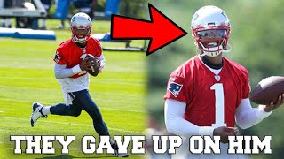 Cam Newton MAKES NEW ENGLAND PATRIOTS TRAINING CAMP DEBUT! EPIC WORKOUT!